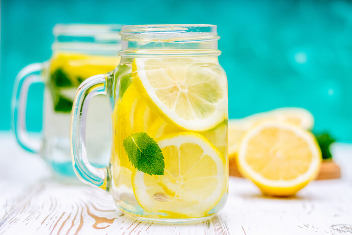 hydrate with lemon water