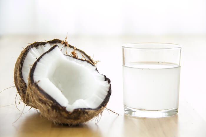 replenish electrolytes with coconut water