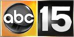 abc 15 news logo orange and black