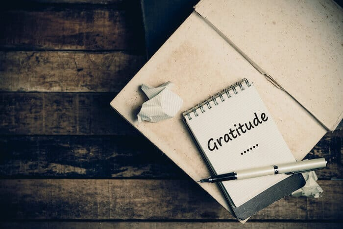 being grateful gratitude journal
