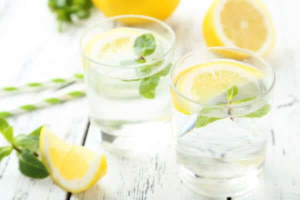 fresh lemon water