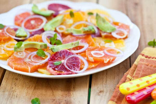 healthy eating grapefruit salad