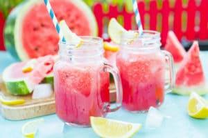 healthy summer watermelon slushies