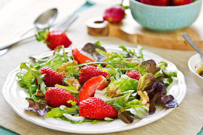 tasty salads strawberry walnut