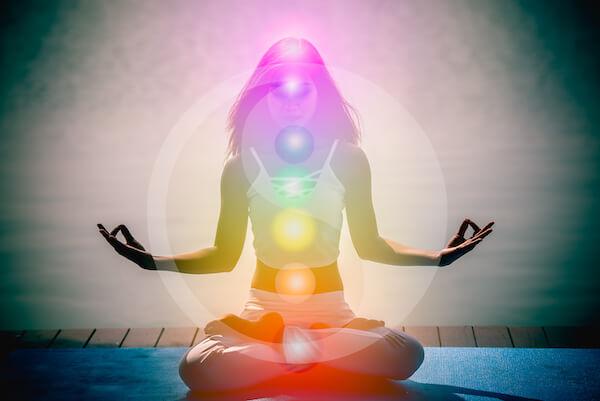 woman with balanced energy