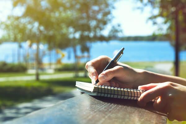 mindfulness journaling outside