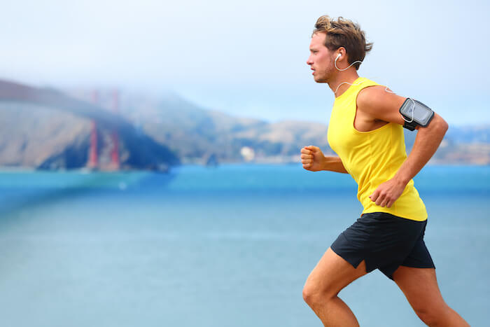 man running for brain health